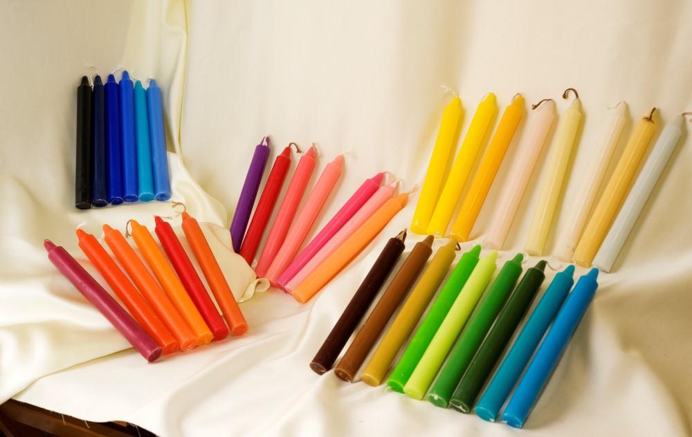 Candele colorate cereria marinelli for Candele colorate